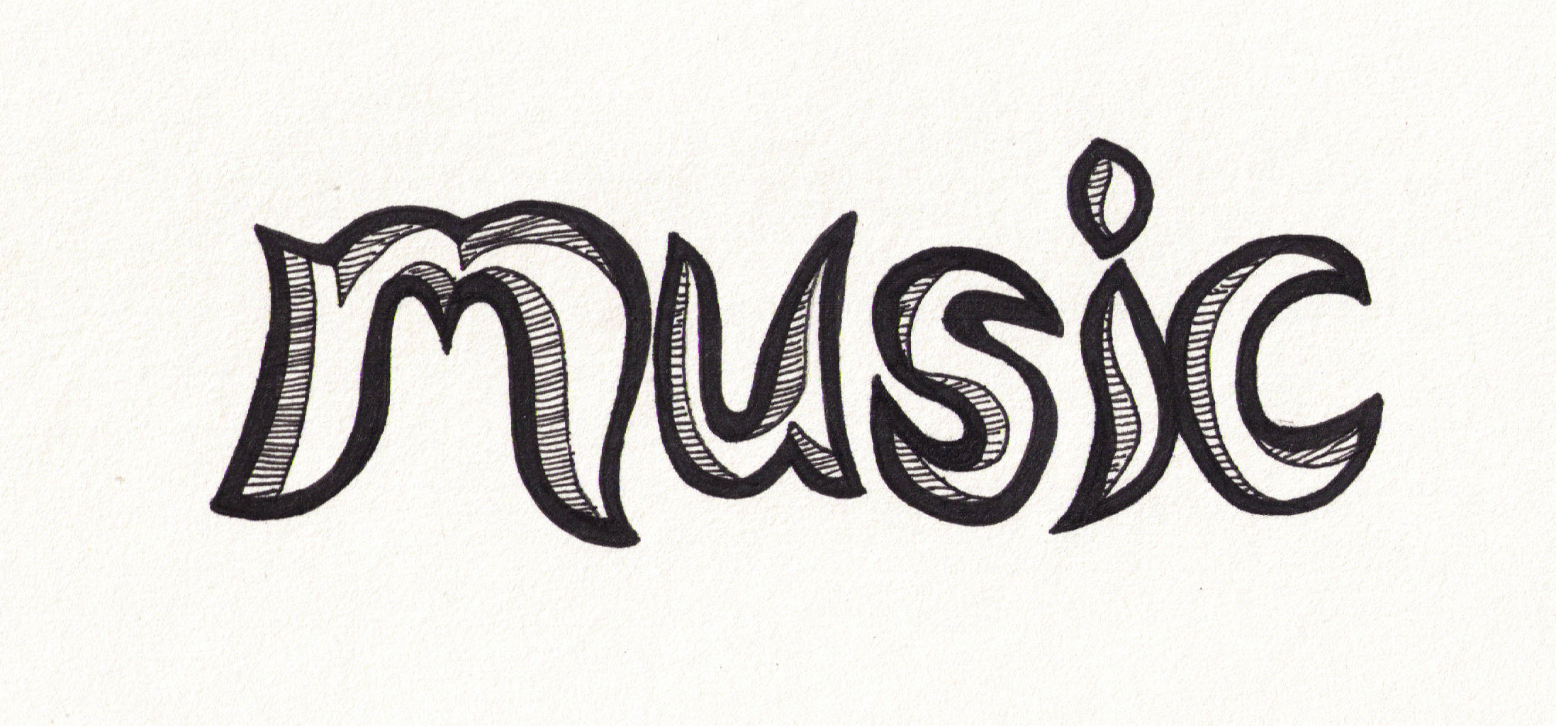 Drawing Lines With Word : Music drawings cliparts