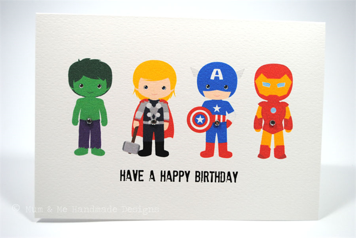 Happy Birthday Card - Boy - The Avengers - HBC134 - Iron Man ...