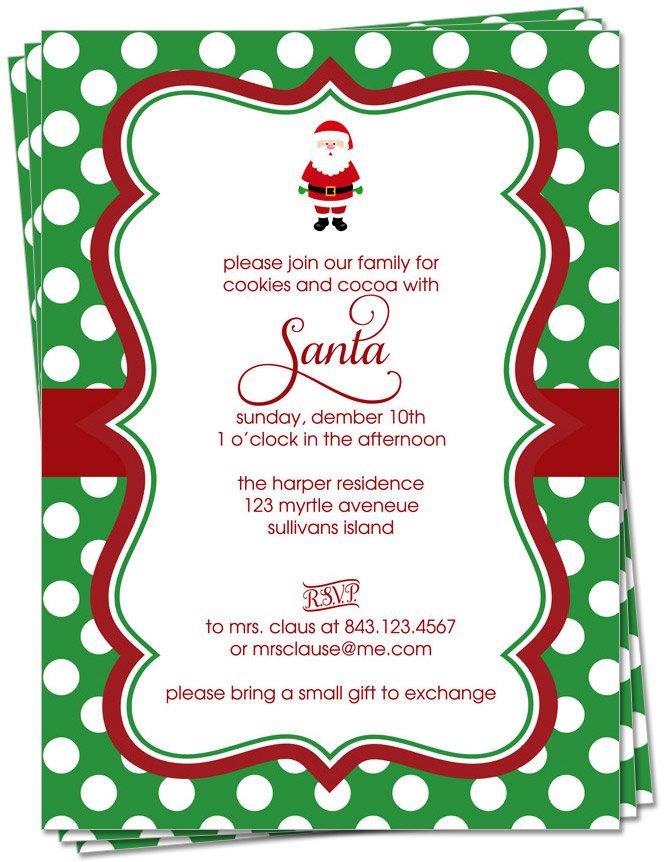 Cookie Exchange Invite for perfect invitation design