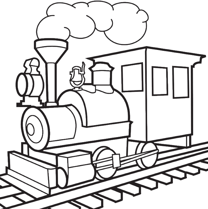 Line Drawing Train : Train drawings for kids cliparts