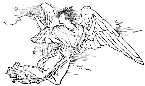 free black angel clipart - photo #45