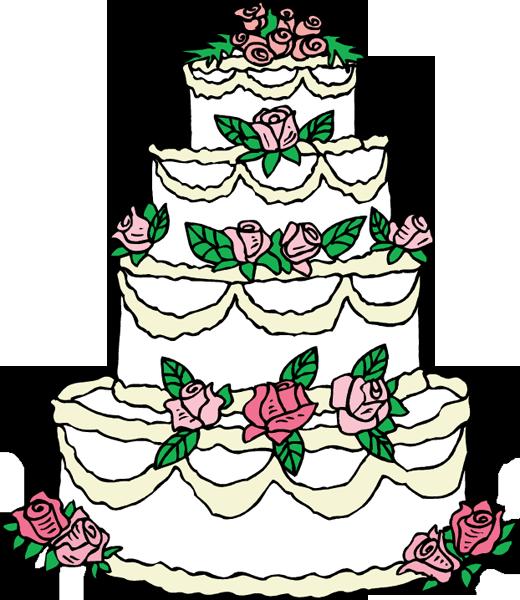 Elegant Wedding Cake Clip Art | Clipart Panda - Free Clipart Images