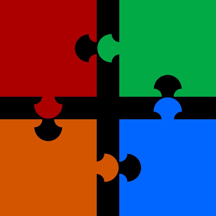 Puzzle Pieces SVG Vector file, vector clip art svg file - ClipartsFree