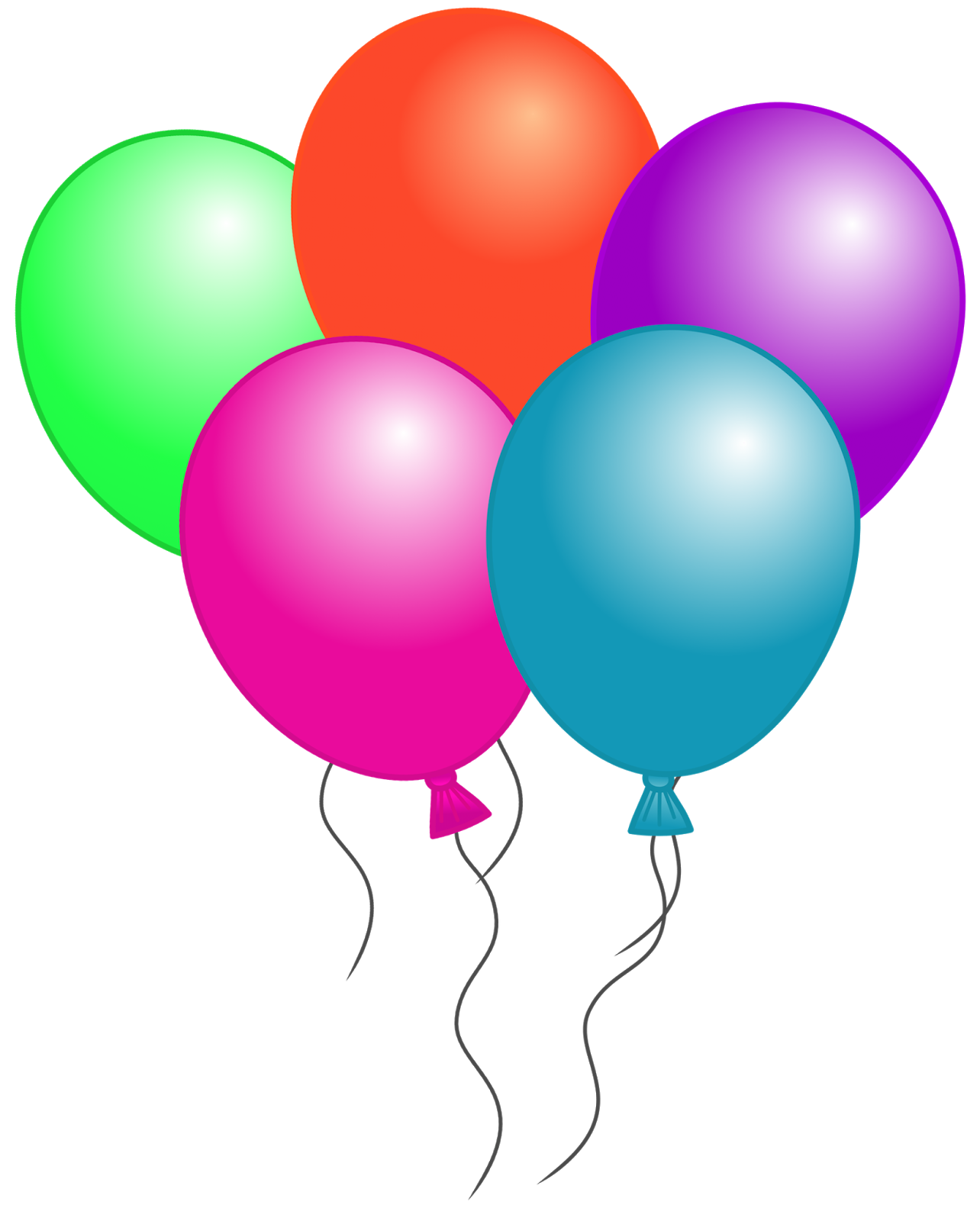 Birthday Balloons Clipart | Clipart Panda - Free Clipart Images