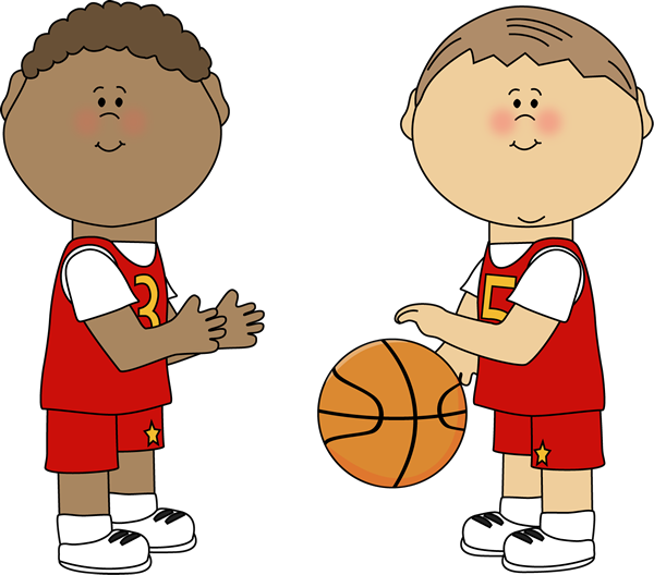 Playing basketball clip art