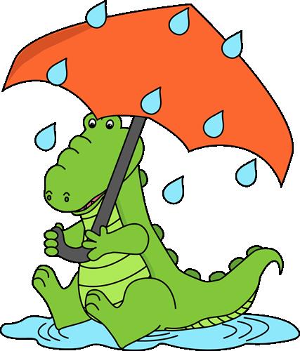 Alligator Sitting in the Rain Clip Art - Alligator Sitting in the ...
