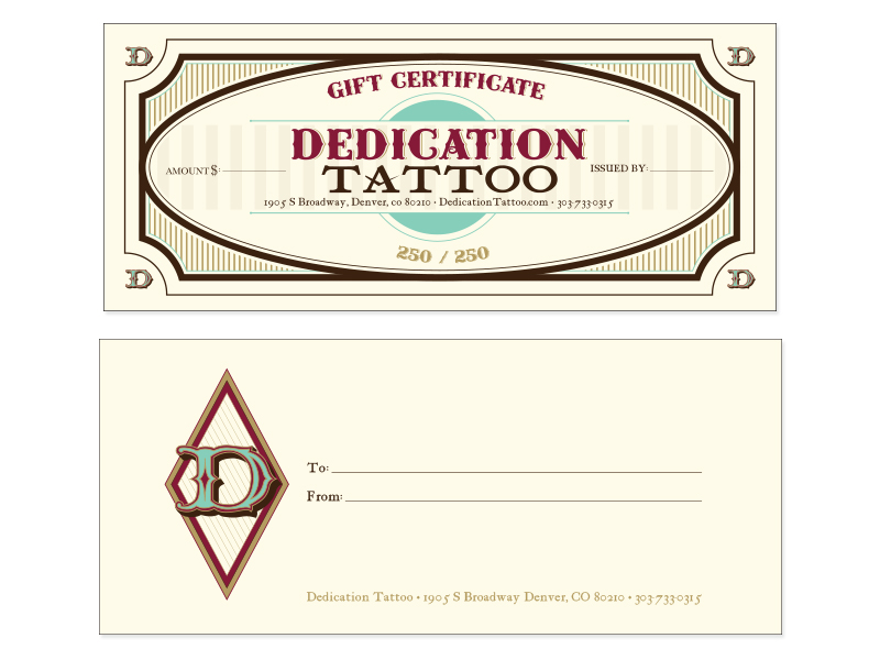 ... - Tattoo Gift Certificate Template Free Microsoft Word Templates