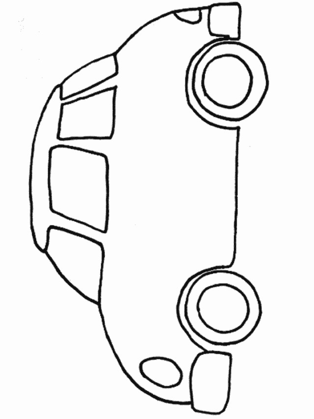 simple vehicle coloring pages - photo#18