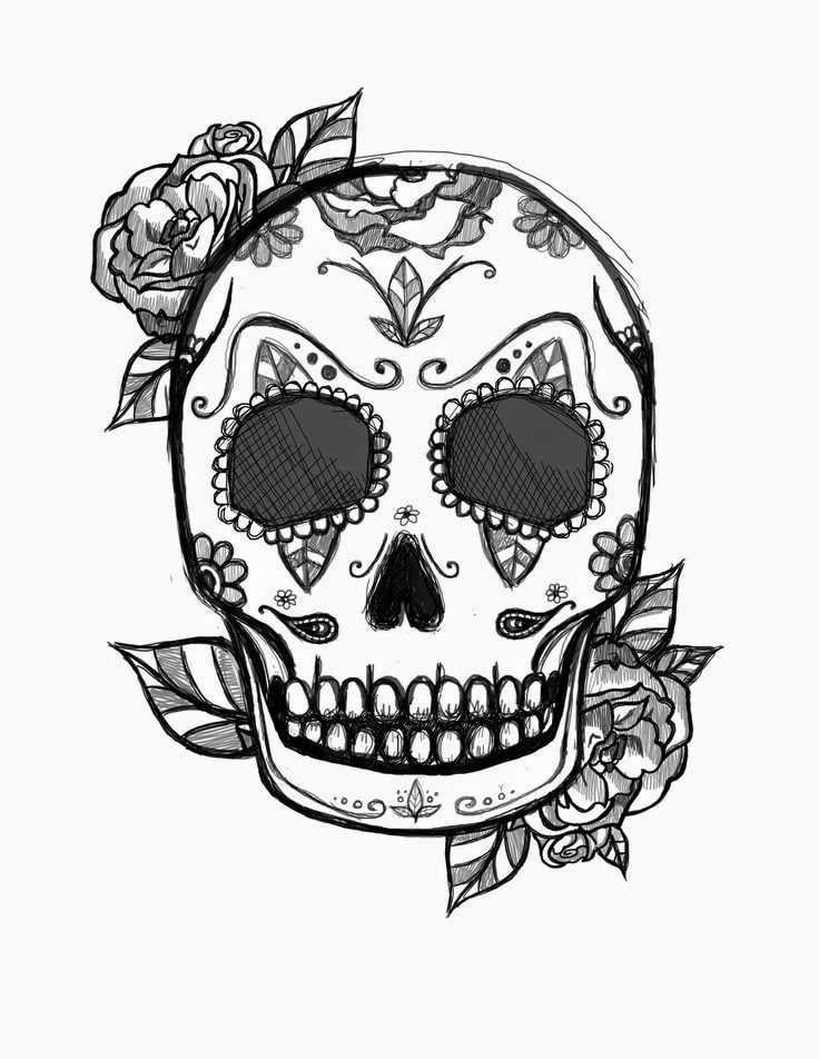 Free Printable Sugar Skull Coloring Pages For Adults - Coloring Home | 952x736