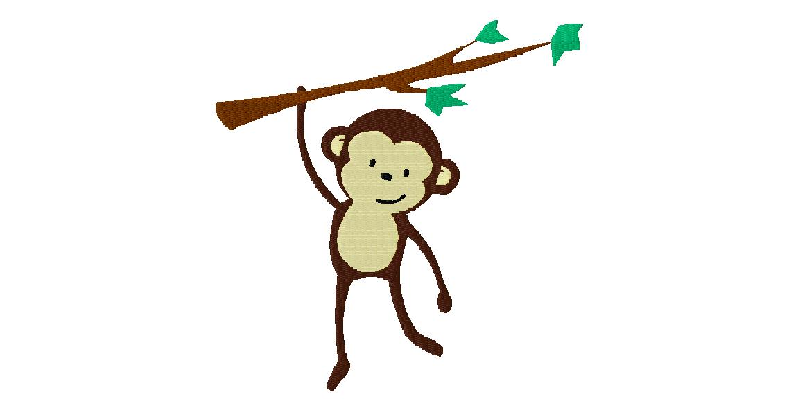 Monkey Embroidery Design Free