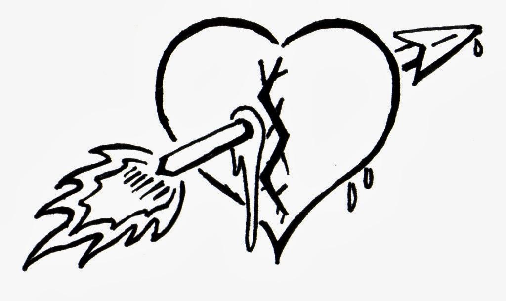 Black And White Heart Tattoo