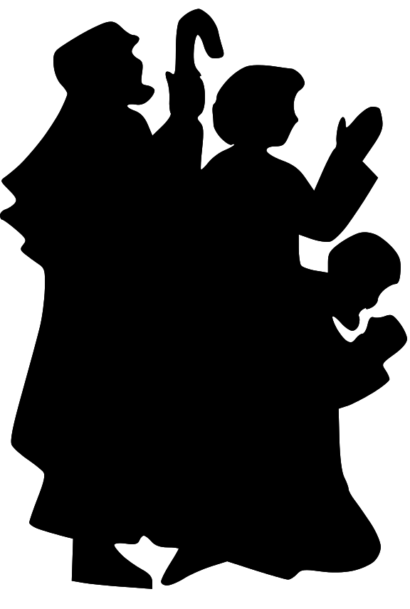 nativity silhouette clip art clipartsco