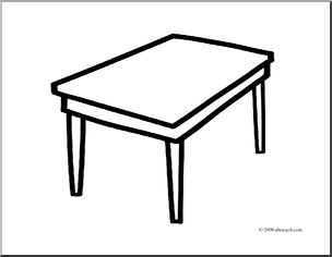 table top coloring pages | Clip Art Table - Cliparts.co