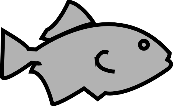 Fish Outline Grey clip art - vector clip art online, royalty free ...
