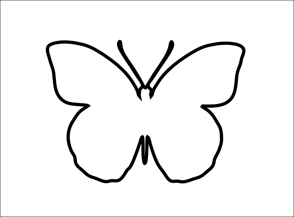 Butterflies clip art for Butterfly template free
