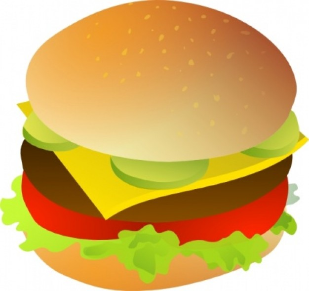 Cheese Burger clip art Vector | Free Download