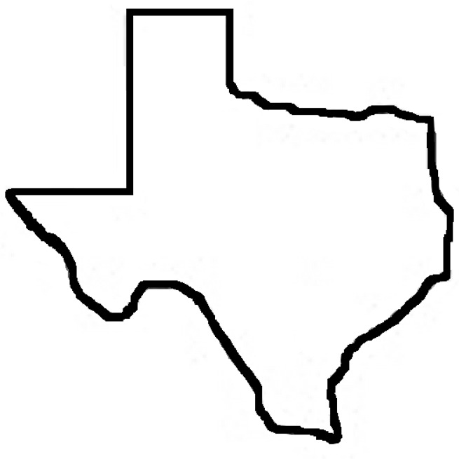Texas Outline Clipart Panda Free