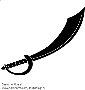 Pirate sword clip art black