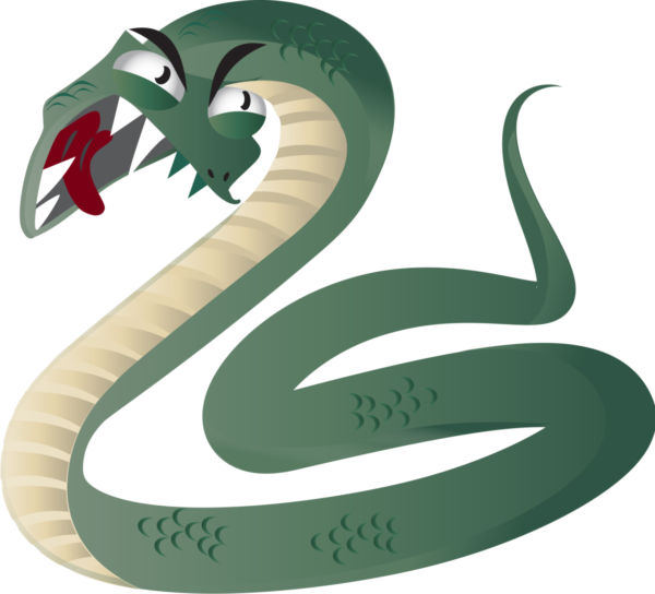 Clip art green snake - stock photo free