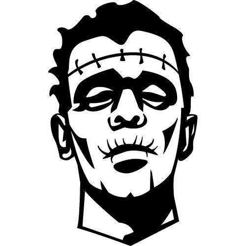 frankenstein cartoon face clipartsco