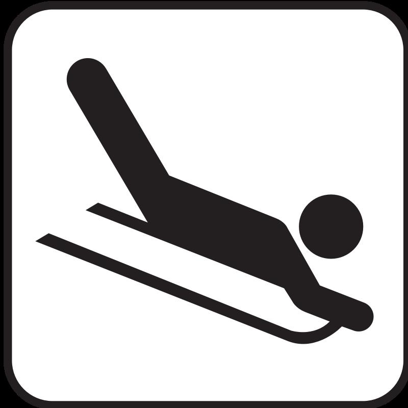 sledding clip art clipartsco