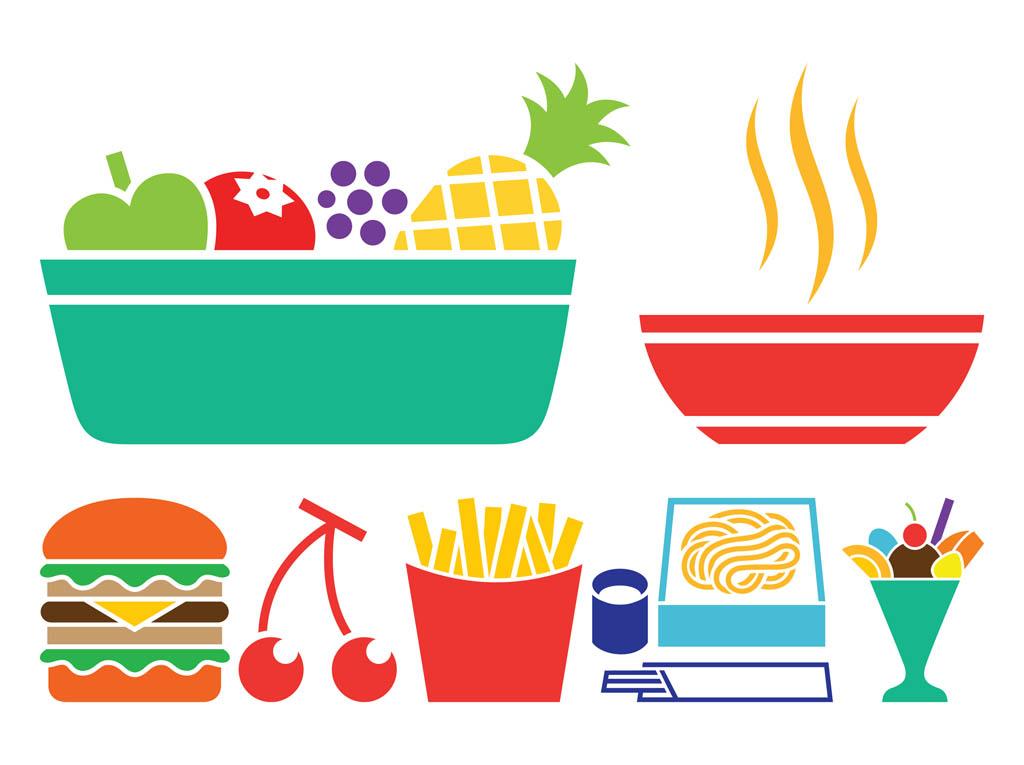 Junk food silhouette