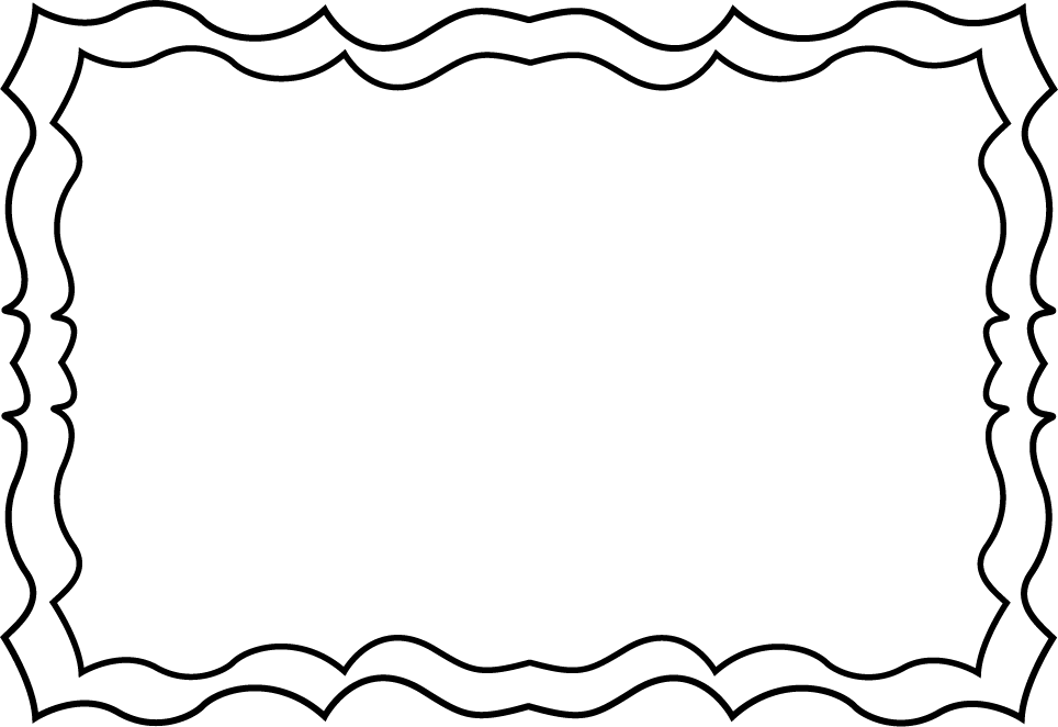 Black and White Squiggly Frame - Free Clip Art Frames