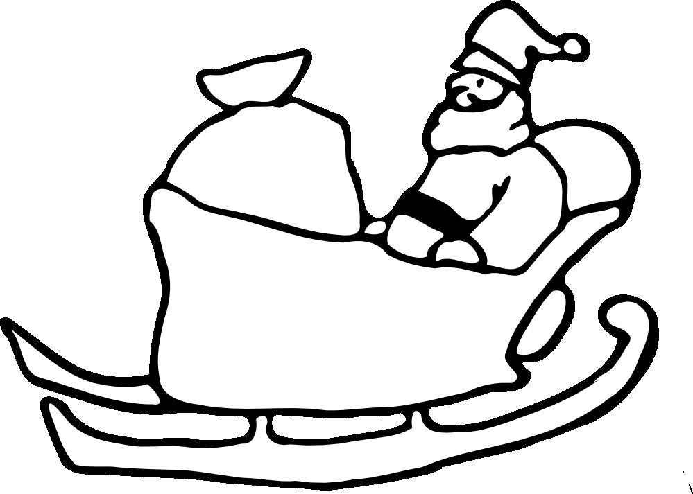 Santa Clip Art Black And White - Cliparts.co