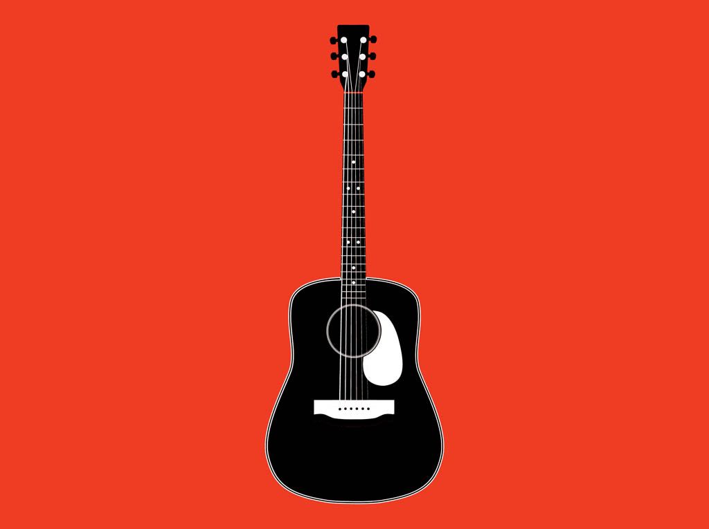 Black And White Guitar Clip Art - Cliparts.co