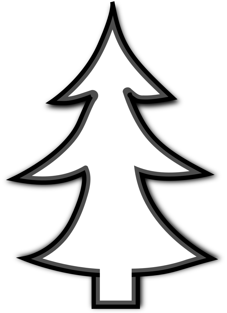christmas tree outline clip art vHD Wallpaper and Download Free ...