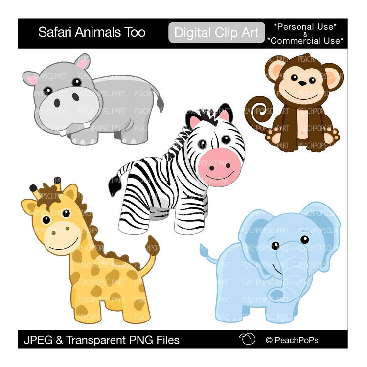 free clip art baby safari animals - photo #14