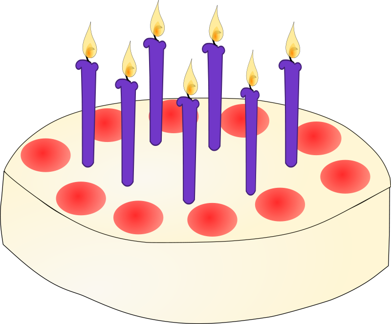 Clip Art Of Birthday Cake With Candles : Birthday Candle Clip Art - Cliparts.co