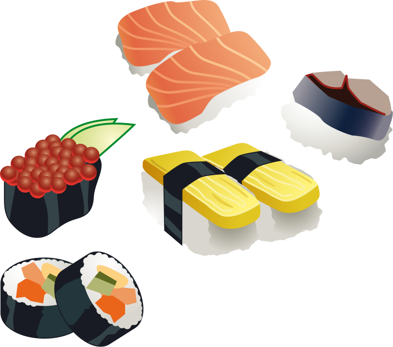 Free to Use & Public Domain Sushi Clip Art