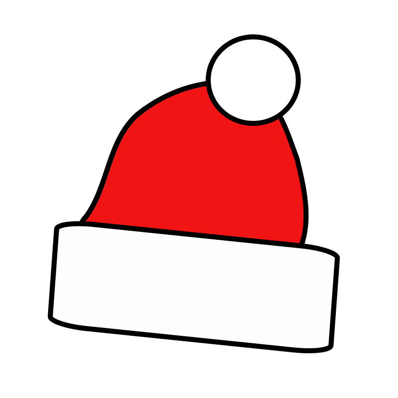 christmas santa hat clipart - photo #30