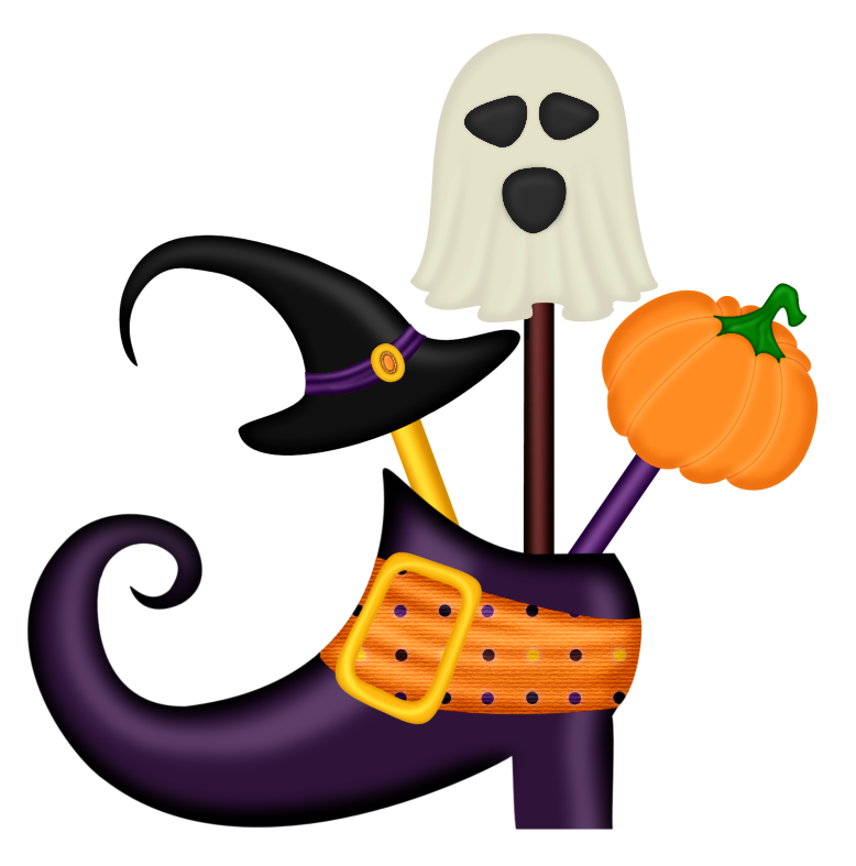 Halloween Witch Shoe Decor PNG Clipart