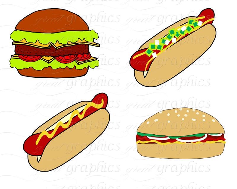 Hamburgers And Hotdogs Clipart Hamburgers And Hotdogs Clipart