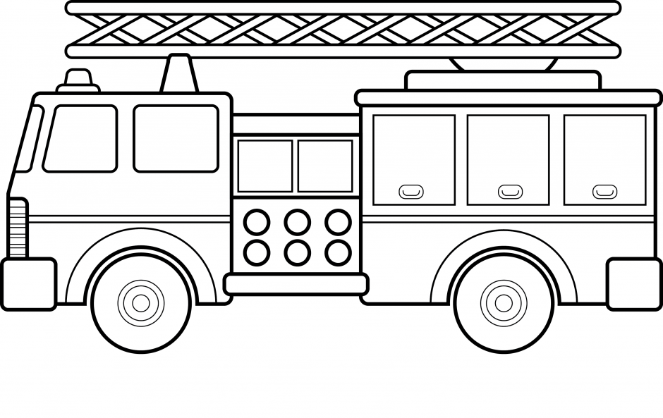 Free fire images for Fire station coloring page