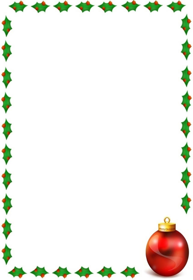 Christmas Clip Art Borders For Letters | Clipart Panda - Free ...