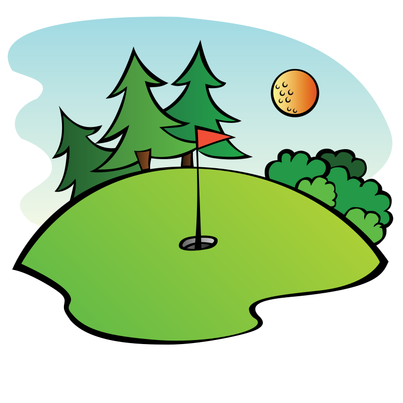 Free Golf Course Clip Art