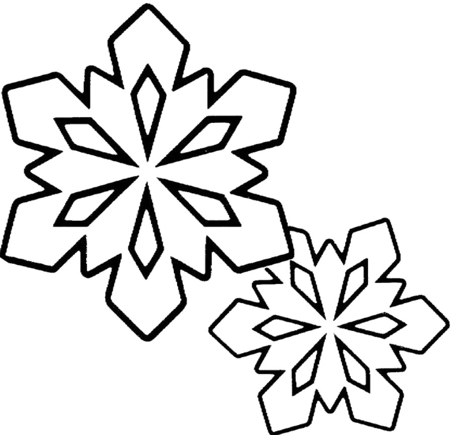 Winter Coloring Pages : Snowflakes Clip Art Black And White Winter ...
