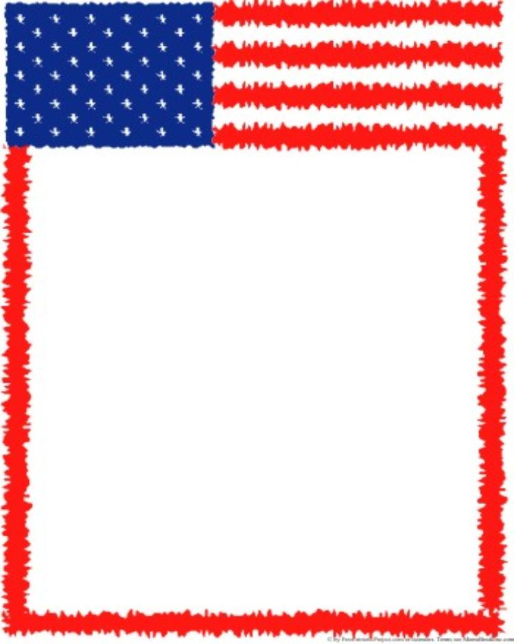 Pix For > American Flag Page Borders
