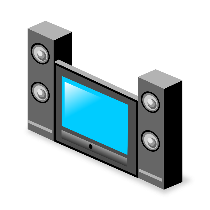 Free Home Theater System Clip Art