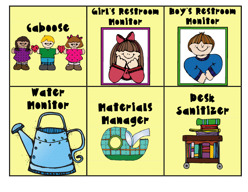 Step into 2nd Grade with Mrs. Lemons: UPDATED... classroom jobs