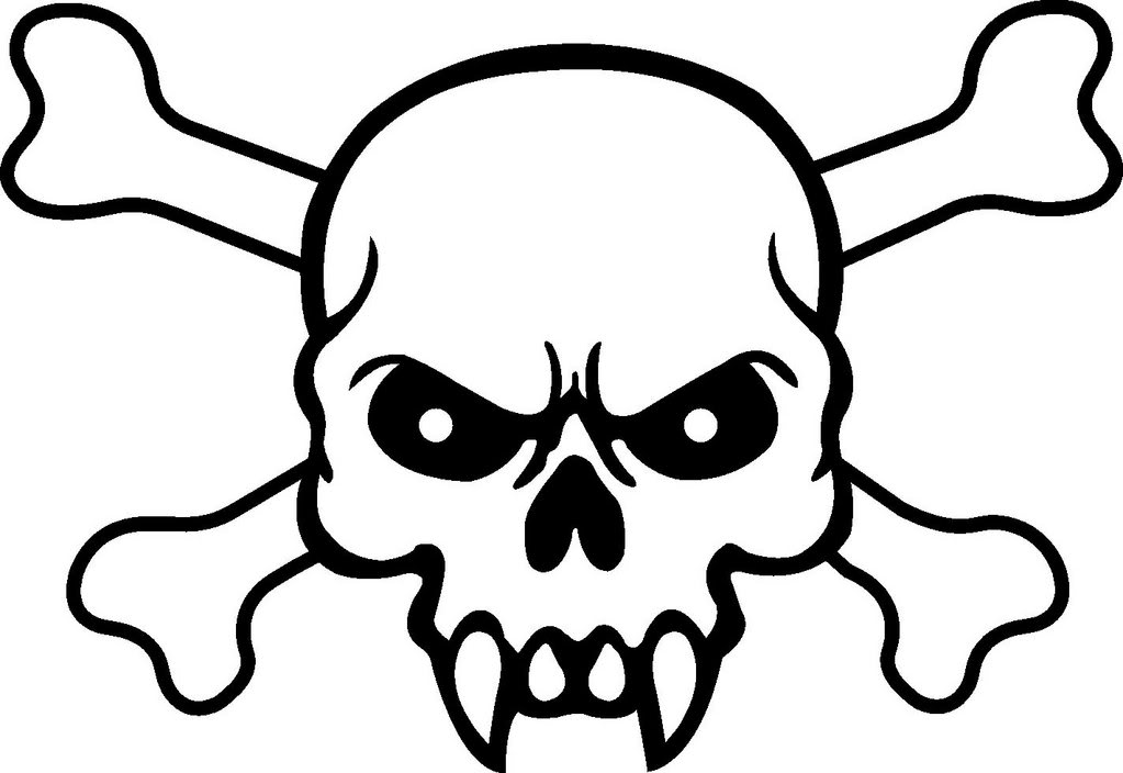 how to draw a skull and bones