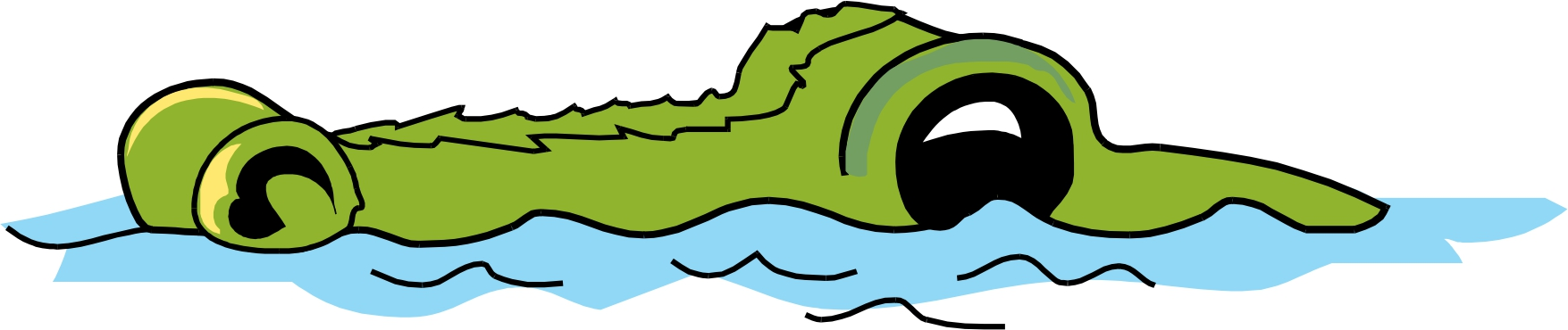 crocodile in water clipart