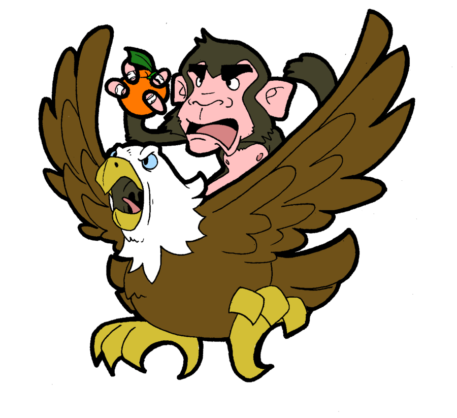 Orange Monkey Eagle by J-Cartoons on deviantART