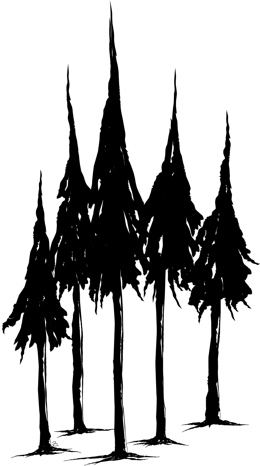 Pix for gt simple pine tree silhouette cliparts co