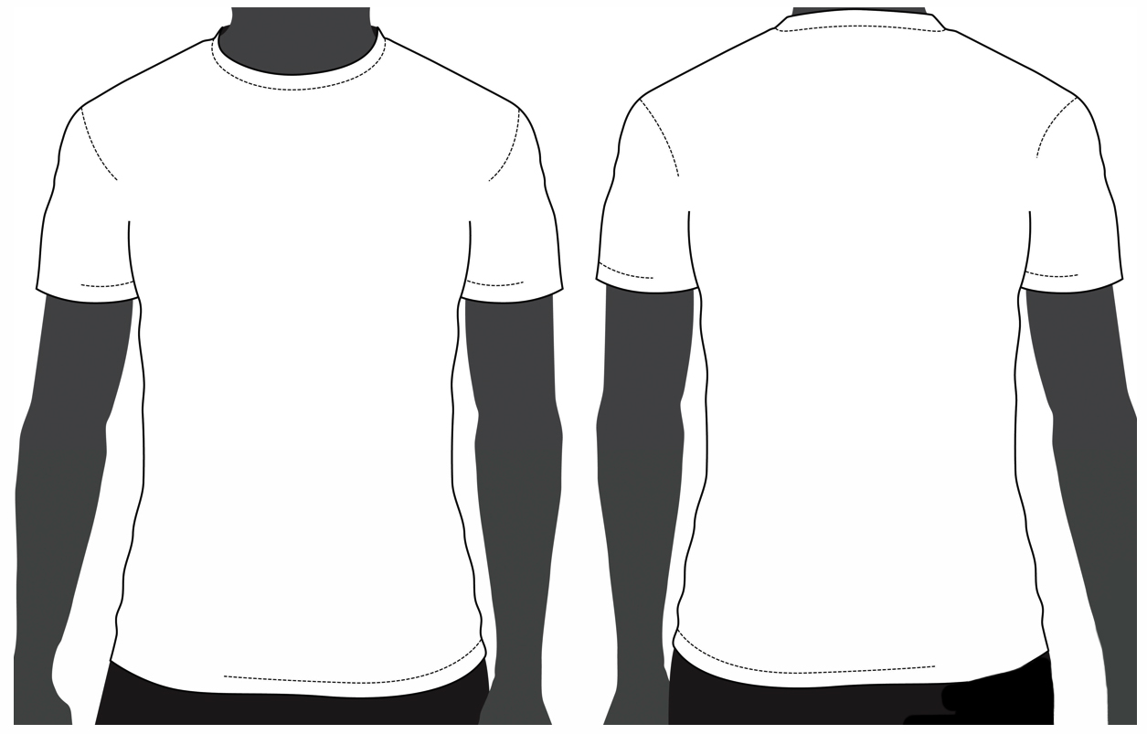 T shirt design template for Blank t shirt design template
