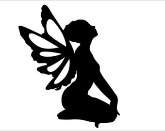 Ridiculous image inside printable fairy silhouettes