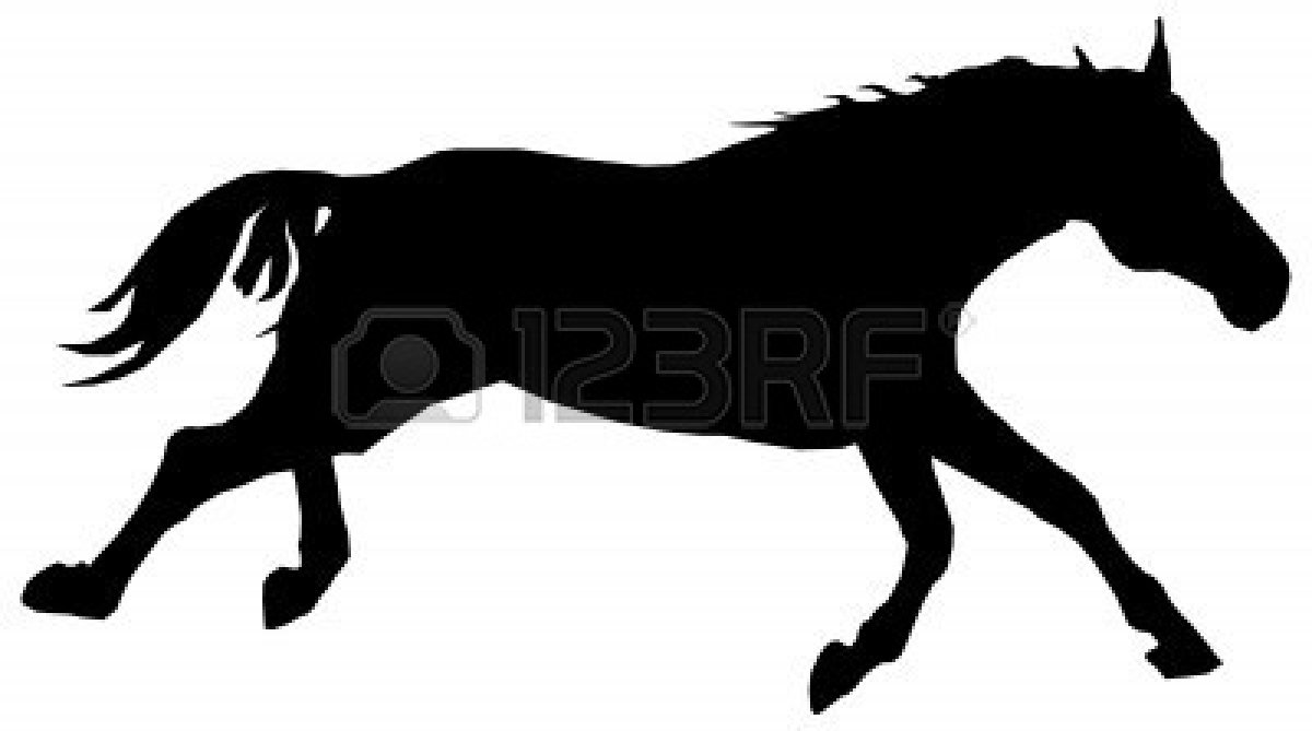 Horses Running Silhouette - Cliparts.co